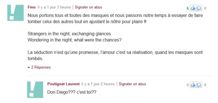 Commentaires Yahoo, 2012
