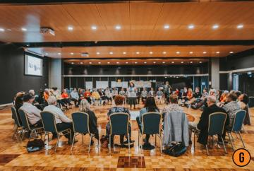 Large group meeting at the Australasian Facilitators Network Conference 2019