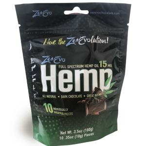 ZenEvo Hemp Chocolate 10 Count Bag