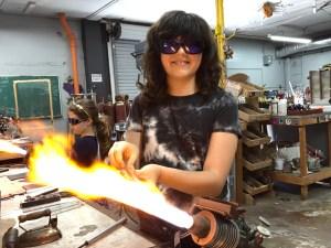 kids glassblowing classes camp