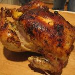 Roast Chicken with Roasted Onions, Capsicums and Tomatoes