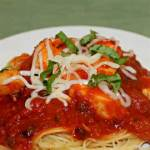 CHICKEN BREAST WITH SPAGHETTI PUTTANESCA