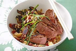 PHEASANT FILLETS WITH CHESTNUTS, SPRING ONIONS AND CRANBERRIES
