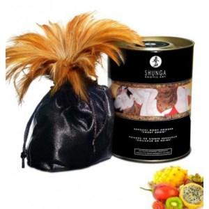 Poudre de massage corporelle comestible fruits exotiques
