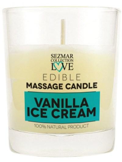 Bougie de massage glace vanille 100 ml
