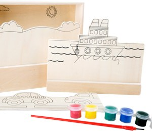 Image à colorier en bois