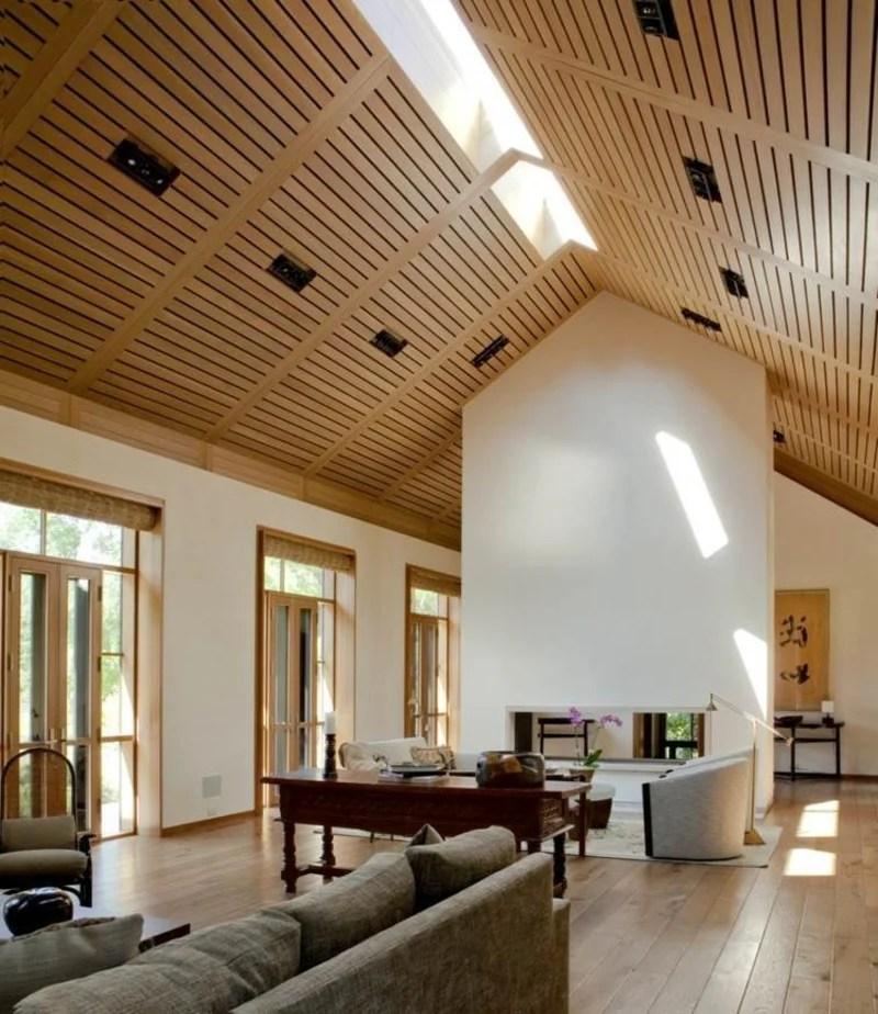 Holz Decke Moderne Einrichtung Ideen