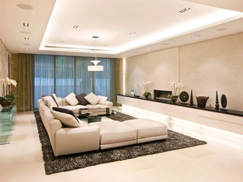 wohnzimmerbeleuchtung beispiel modern indirektes licht offener ... - Indirekte Beleuchtung Wohnzimmer Modern