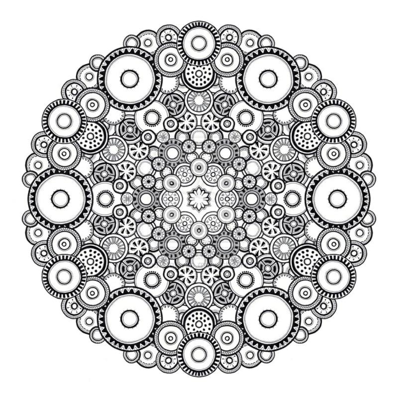 50 Mandala Vorlagen Stress Abbauen DIY ZENIDEEN