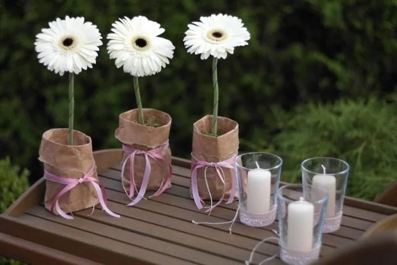 Blumen Tischdeko  eine frische Idee  Deko  Feiern Haus  Garten  ZENIDEEN