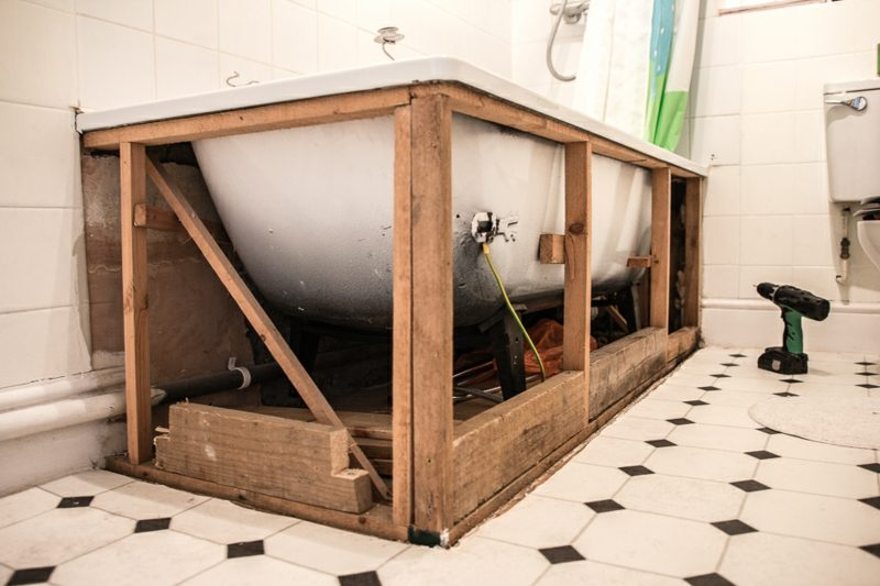 Badewannenverkleidung Holz