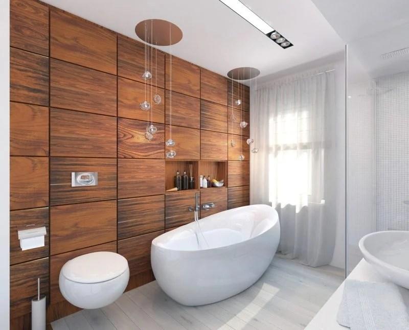 Bad Wandverkleidung mit Holz - warum denn nicht? - Badezimmer, Wandverkleidung - ZENIDEEN