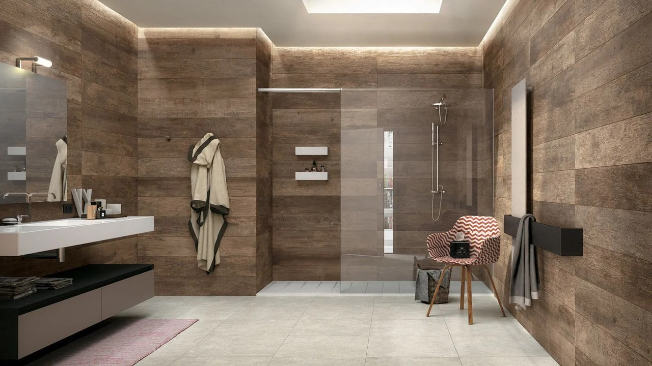 Bad Wandverkleidung mit Holz  warum denn nicht  Badezimmer Wandverkleidung  ZENIDEEN