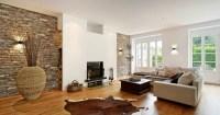 Wohnzimmer Design Steinwand