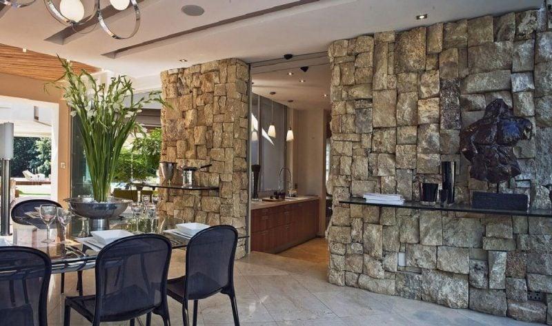 Innen Steinwand 22 elegante Ideen zur Gestaltung  Deko  Feiern Innendesign  ZENIDEEN
