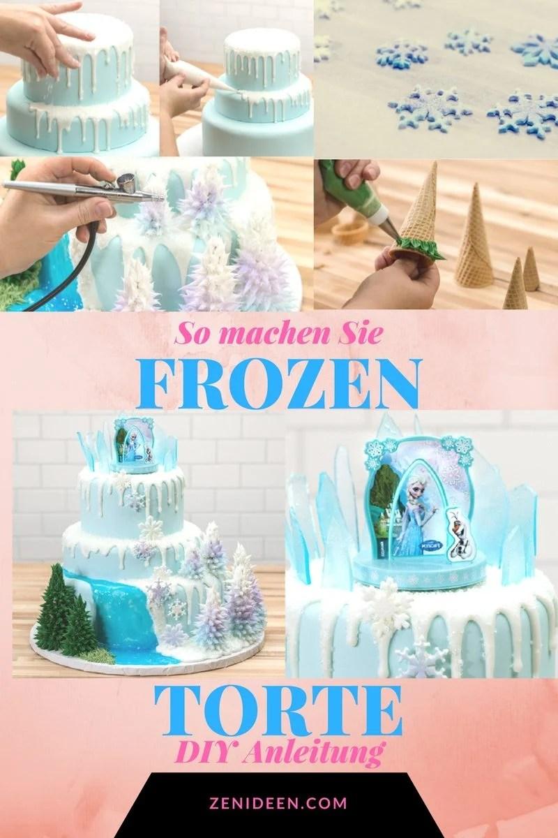 Motivtorten selber machen Frozen Torte Anleitung  DIY