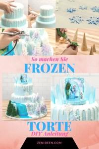 Motivtorten selber machen: Frozen Torte Anleitung - DIY ...