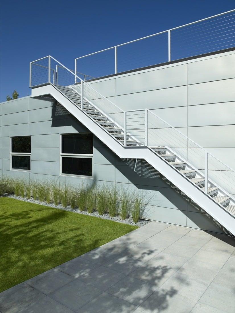 Moderne Stahltreppen auen  eine gute Idee  Architektur