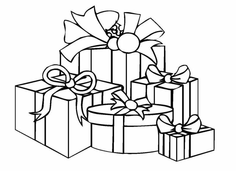 Ausmalbilder Weihnachten Geschenke.Geschenke Vorlagen Zum Ausmalen
