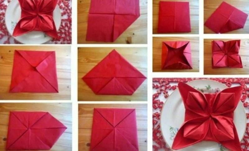 Servietten falten zu Weihnachten 20 originelle Tischdeko