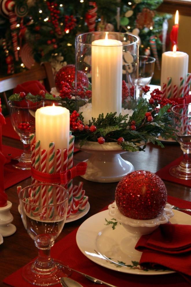 Tisch weihnachtlich dekorieren 41 Deko Ideen fr