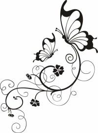 Blumenranken Tattoo: 20 schne Vorlagen fr diverse ...