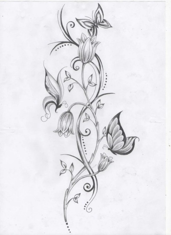 20 Bilder Blumen Und Schmetterlinge Tattoo Ideas And Designs