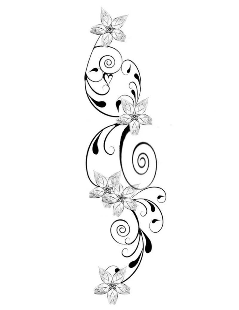 Blumenranken Tattoo 20 schne Vorlagen fr diverse