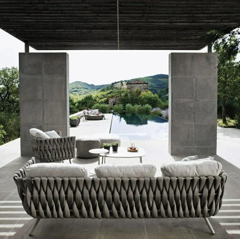 Attraktive Loungembel Outdoor  Mbel Terrassen Veranda  ZENIDEEN