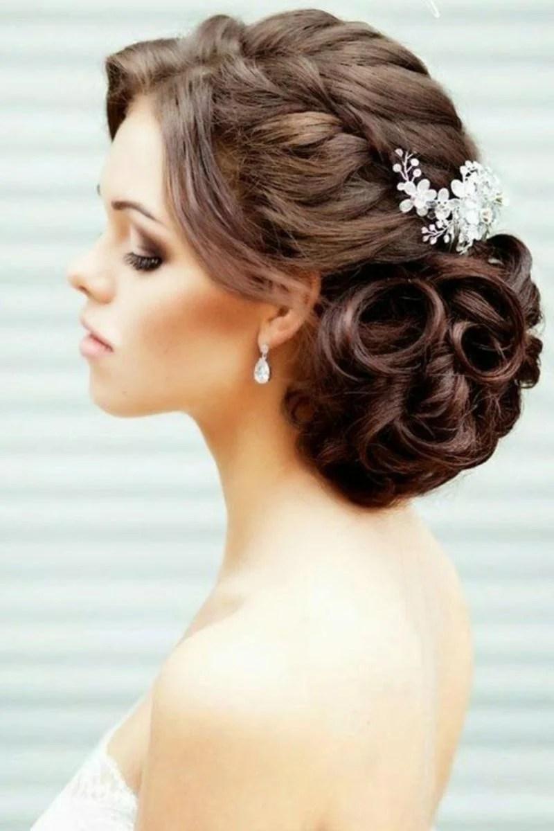Locken Frisuren Hochzeit Brautfrisur Halboffen Fur Lange Haare 30