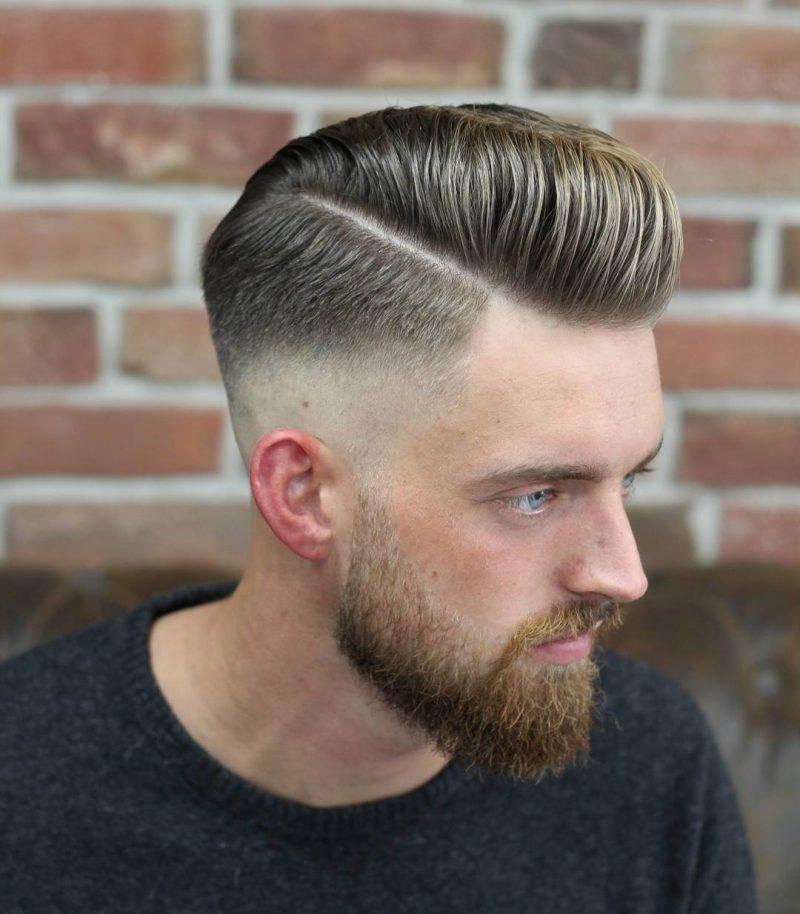 Mnner Frisuren 2018  trendige Pompadour Frisur fr