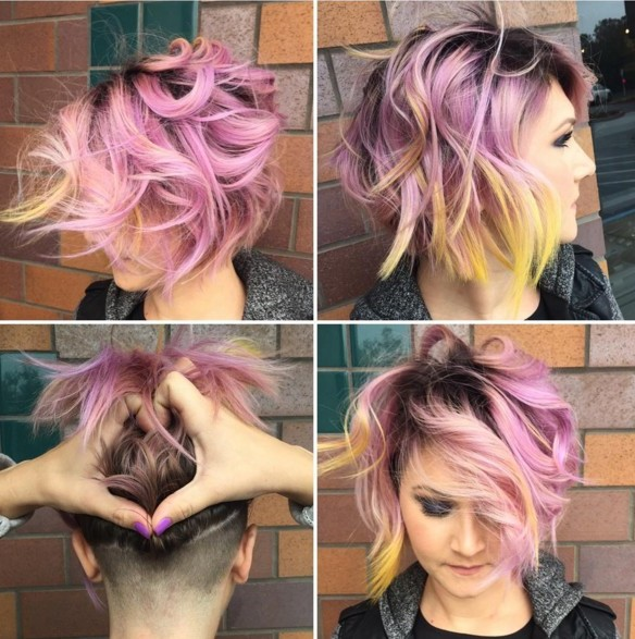 Undercut Frauen Frisuren  so stylen Sie den Undercut