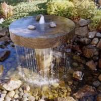 Garten gestalten - Springbrunnen als Blickfang im eigenen ...