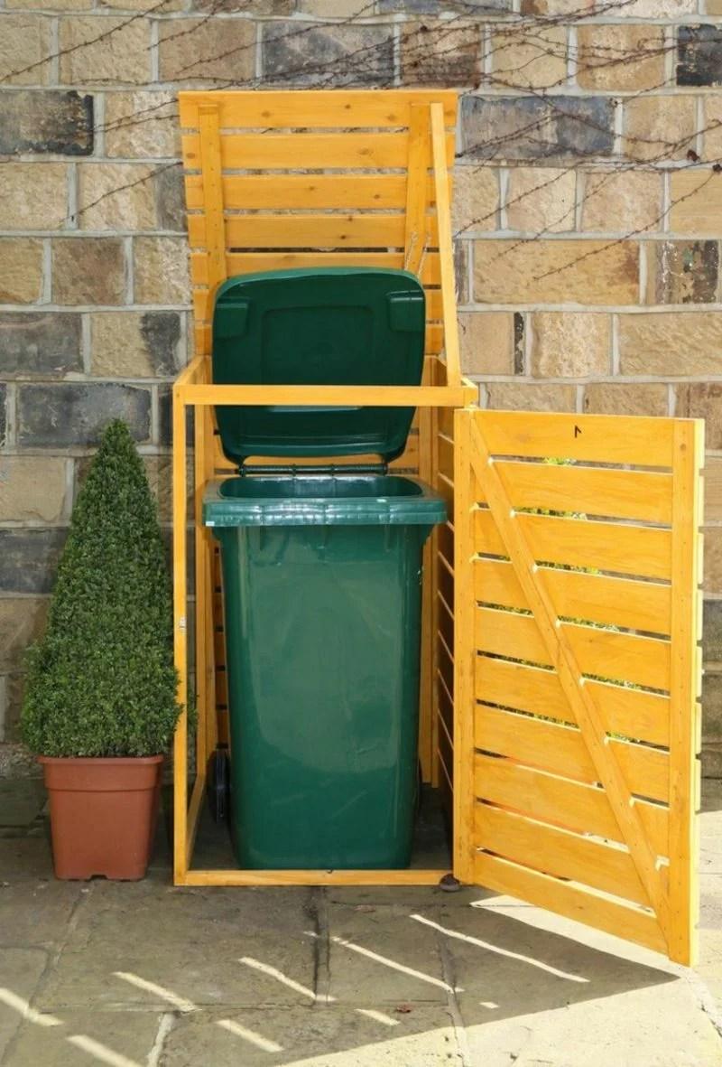Abfalltonnen Sichtschutz Selber Bauen Gabione Steinmauer Einfach