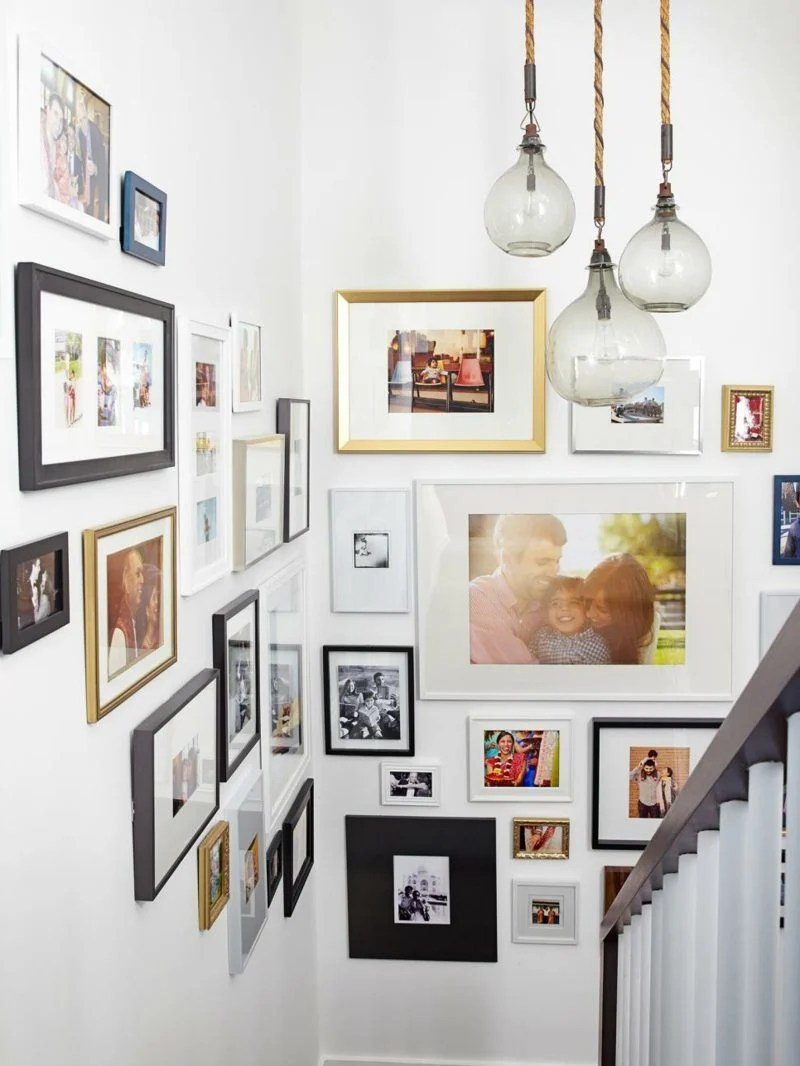 Fotowand zu Hause gestalten Tipps und 25 kreative Ideen  Innendesign Wandverkleidung  ZENIDEEN