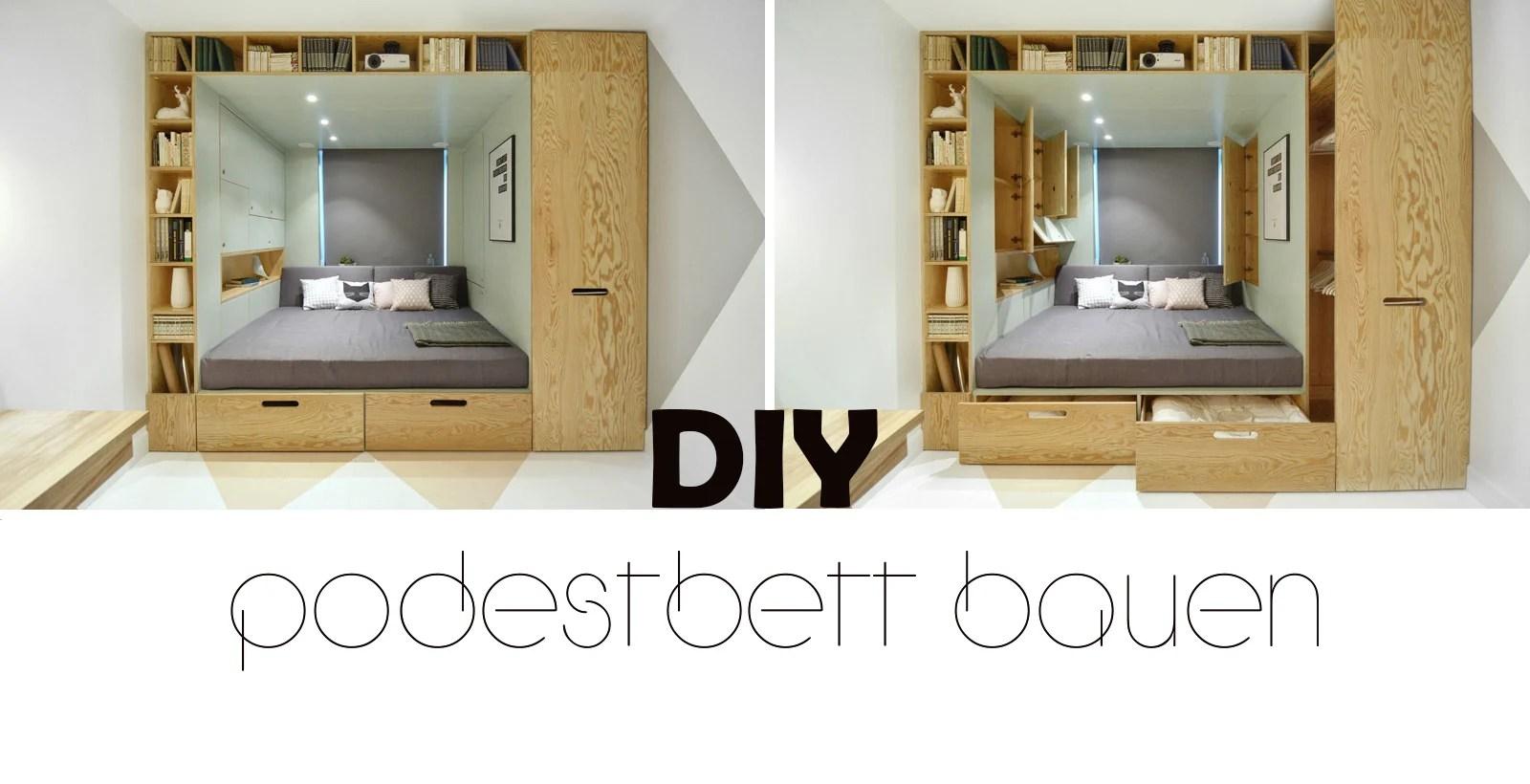 Podest Bett Podestbett Stauraum Bett Selber Bauen Best Bett Selber
