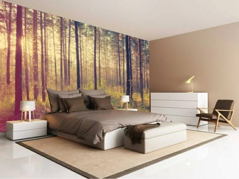 Fototapete Wald schafft in der Wohnung ein stilvolles