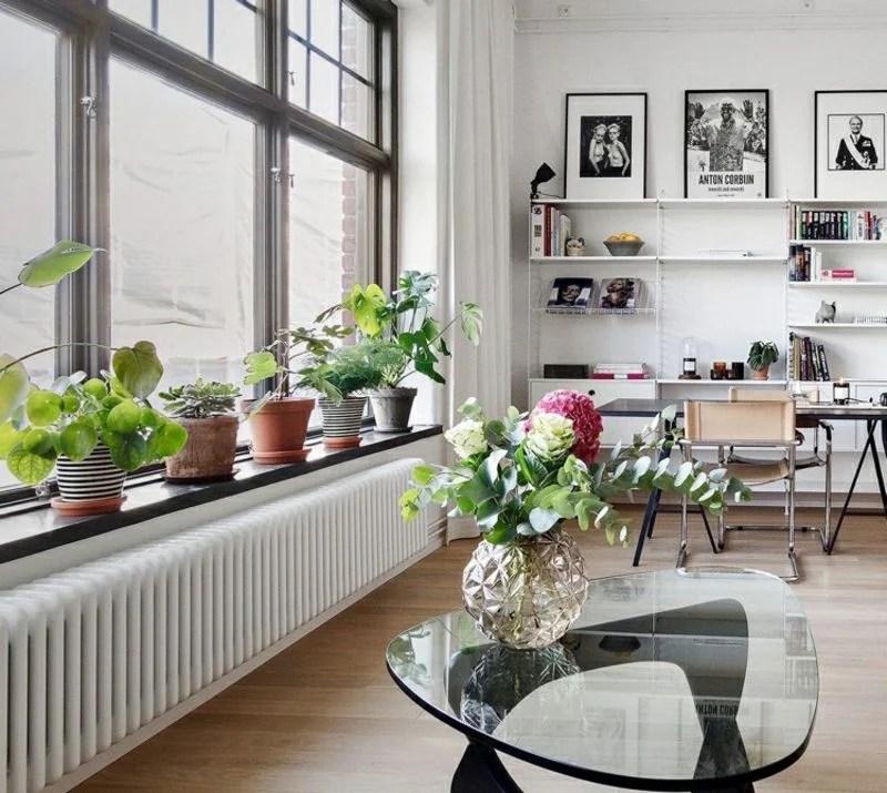 Blumendeko Fensterbank