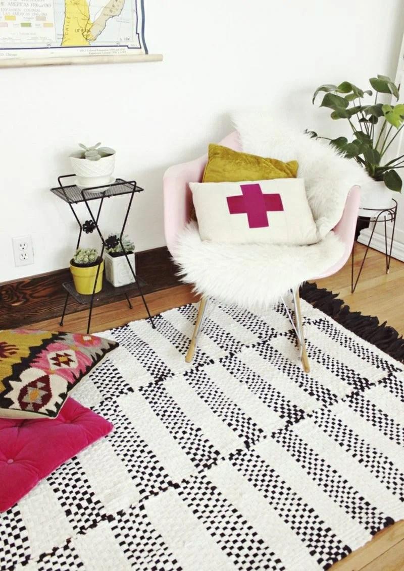 Teppich Selber Machen Patchwork Wolldecke Plaid Blanket Stricken