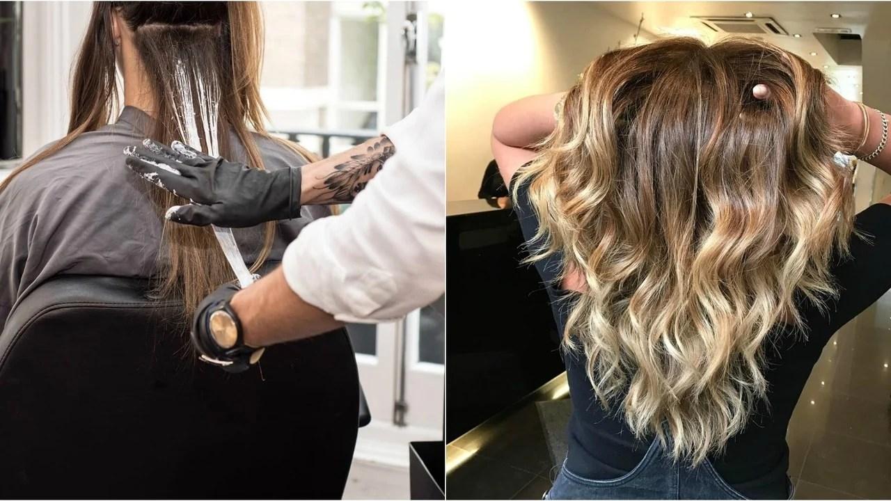 Palm Painting Haare Der neue Trend fr natrliche Strhnen  Frisurentrends  ZENIDEEN