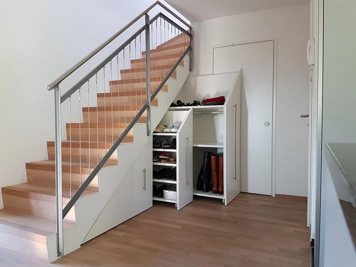 Schrank Unter Schrage Treppenunterschrank Schreinerei