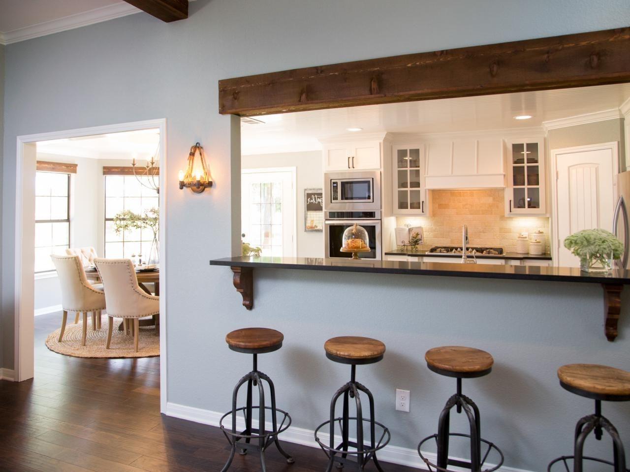 Cuisine ouverte sur le salon : Semi Ouverte Cuisine Ouverte Sur Salon Avec Bar Galeries ...