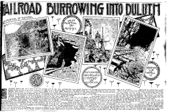 An August 6, 1911 Duluth News Tribune clipping showing the tunnel progress. (Image: Zenith City Press)