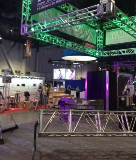 Zenith Lighting Trade Show Hanging Sign Rigging Blog