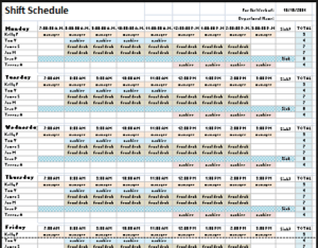 event labor scheduling template