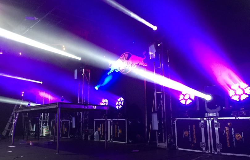 3 Days in Miami Red Bull Stage Lighting Zenith