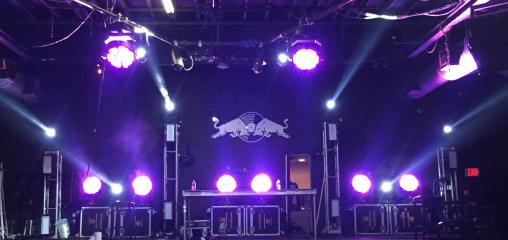 red bull 3 days in miami stage rental lighting
