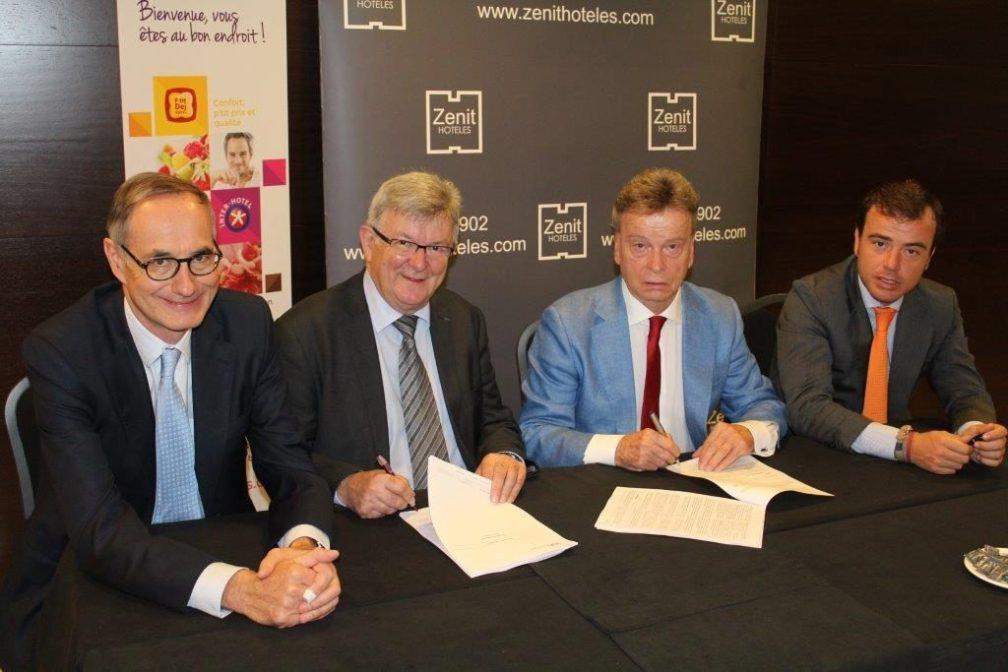 Firma del acuerdo Zenit Hoteles y SEH United Hoteliers