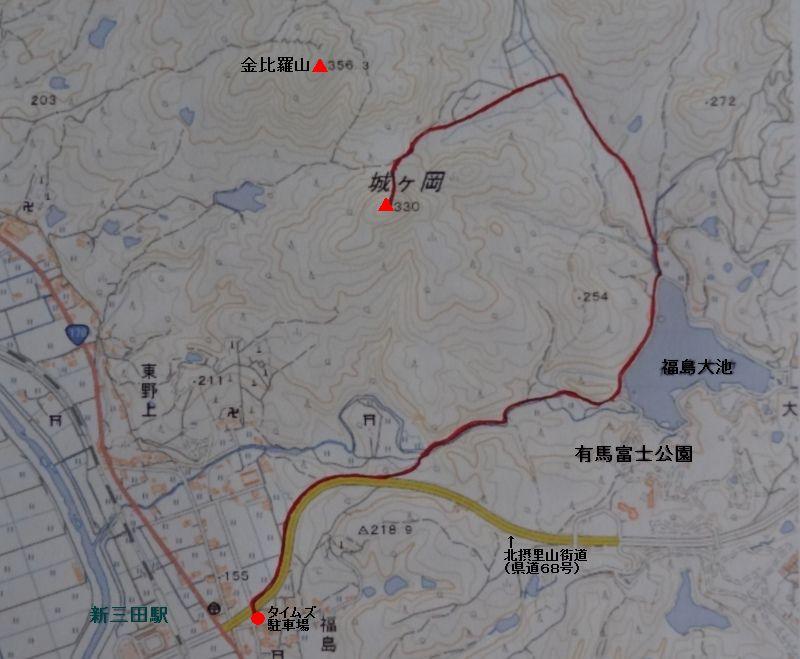 ルートマップ 城ヶ岡