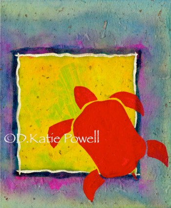W RED TURTLE YELLOW SQUARE 1_2 DKP